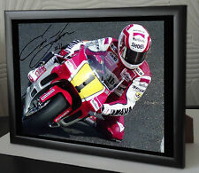 Eddie Lawson Yamaha YZR500, Japan GP 90  Framed Canvas Tribute Signed Great Gift