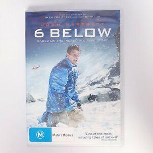 6 Below Movie DVD Free Postage Region 4 AUS - Thriller Survival True Story