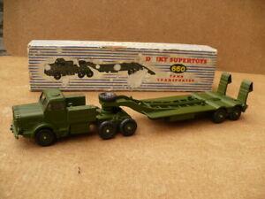 Dinky diecast no 660 Tank Transporter Mighty Antar Original Excellent condition