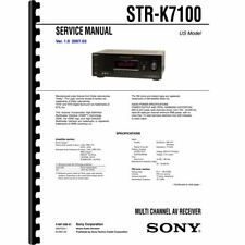 Sony STR-K7100 Stereo Receiver Service Manual (Pages: 74) 11x17 Drawings