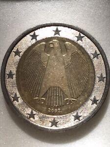 Piece de 2 Euros Rare 2002 Aigle Fédérale