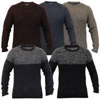 mens jumper knitted wool blend pullover winter sweater by Kensington Eastside