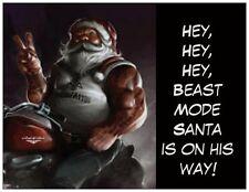 20 CHRISTMAS Motorcycle Beast MODE SANTA Greeting Flat CARDS Env Seals