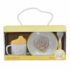 WINNIE THE POOH 3 PIECE BABY FEEDING SET BOWL SPOON CUP NEW BORN GIFT DISNEY