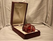 Vintage Goebel Limited Edition Red Full Lead Crystal Bell~Noel 1978 #1973 of 10k