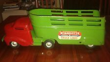 "WYANDOTTE TRUCK LINES PRESSED STEEL TOY 1950S 25"" L EXCELLENT CONDITION"
