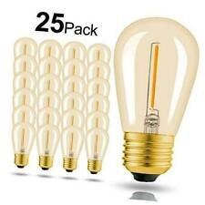 Hizashi - 25 Pack 2200K LED S14 1 Watt Dimmable Bulb E26, String Light Replaceme
