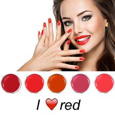Gel UV Color colaxy de uñas Conjunto Ahorro I LOVE ROJO 5 x 5ml