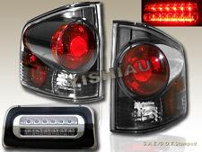 94-98-04 S10 S-10 SONOMA TRUCK TAIL LIGHTS 3D STYLE DARK SMOKE + 3RD BRAKE LIGHT