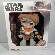 """New listing Star Wars TALKING BABU FRIK - Plush 9"""" Mattel New"""
