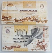 Faroe Faeroe Islands 100 Kronur 2011 - 2012 P 30 Fish UNC