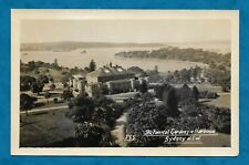 C1930s RP PC BOTANICAL GARDENS & HARBOUR, SYDNEY FROM ELEVATED POSITION