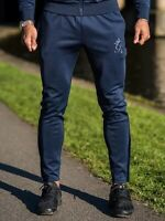 Gym King Ellis Tapered Poly Tracksuit Bottoms Navy/Navy Size XL RRP £40