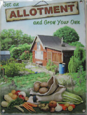 New 15x20cm Allotment Grow Your Own Vegetables metal advertising wall sign