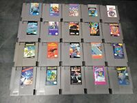 20 Nintendo NES Game Lot Dr. Mario, TMNT, Commando, Robocop, Mickey, Rad Racer