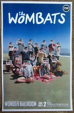 The Wombats 2012 Gig Poster Portland Oregon Concert