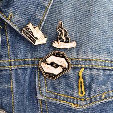 3x Enamel Magic Gesture Book Fire Witch Brooch Pin Jacket Shirt Badge Brooch YEZ