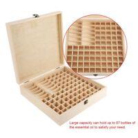 New 87 Slots Wood Essential Oil Storage Box Case Organizer Aromatherapy Holder