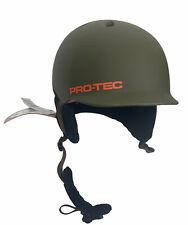 Pro-Tec Riot Ski Snowboard Helmet Matte Green Wind Shield Size Small