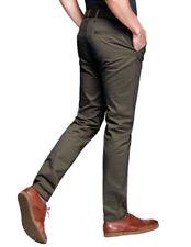 Pantaloni da uomo lunghi marrone slim