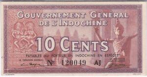 INDOCHINE : 10 CENTS 1939 sign.13 q.NEUF - P.85c