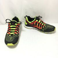 Nike Free Trainer 5.0 Men's 9.5 Black Red Yellow Lace Up Running Athletic Shoes