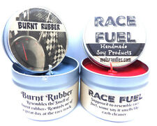 Combo 4 oz Burnt Rubber & 4 oz Race Fuel Soy Candle Tins - Great Gift for Men