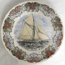 "CHURCHILL POTTERY CURRIER IVES TALL SHIPS SERIES VOLUNTEER 10"" DINNER PLATE"