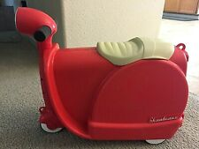 Very Rare SKOOTCASE Ride-On Suitcase and Scooter for Kids – Red