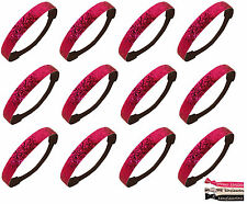 Wholesale Lot 12 Pink Glitter Headbands Sports Teams Pack Fashion Sparkly lot