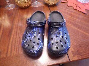 Men's Crocs Size M-13 Lightning Bolts