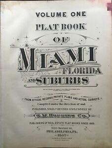 ORIGINAL 1947 MIAMI FLORIDA G.M. HOPKINS TITLE PAGE PLAT ATLAS MAP