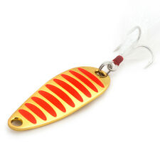 Kylebooker Fishing Lure Spoons Gold Silver Fishing Spoon Hard Lures Metal Lure