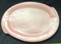 "Cyclamen Pottery Blue Plate Set 16"" Platter Julie Sanders California Salmon Tray"