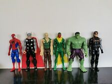 Avengers Marvel Toy Figures - Good Condition but used. Set of 6 Figures