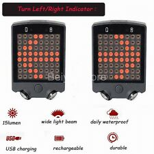 64 LED Wireless Remote Bicycle Bike Rear Tail Laser Light Turn Signals Safety