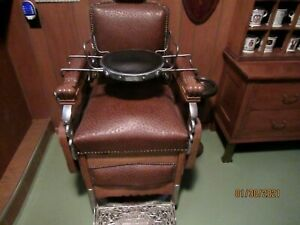 Vintage Koken Kochs Paidar Barber Chair Restored Large 12 Inch Child's Seat