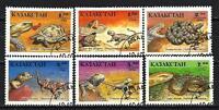 Animales Kazajstán De Reptiles (177) serie completo 6 sellos matasellados