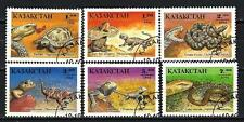 Animaux Reptiles Kazakhstan (177) série complète 6 timbres oblitérés