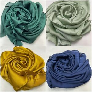 New Woman Soft Silky Plane long  Lightweight Scarves (Chose The Colours)
