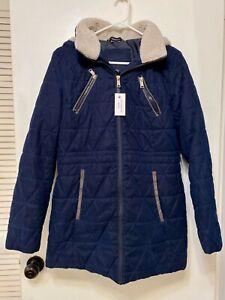 Nautica Women Fall Winter Coat Navy Navy Blue Size L  ..1..