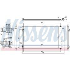 1 Kondensator, Klimaanlage NISSENS 940489 passend für TOYOTA