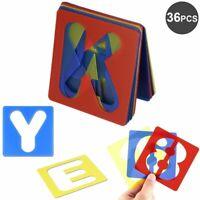 Plastic Alphabet Letter Number Stencils Set Diy Painting Scrapbook Card Crafts
