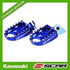 REPOSE CALE PIED EVO KAWASAKI KX85 KX65 KX 85 65 BLEU SCAR RACING