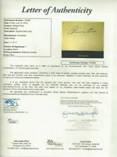 Jimmie Foxx Baseball Hall of Famer Autographed 3x5 Card JSA Letter Red Sox