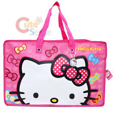 "Sanrio Hello Kitty Reusable Tote Pink Large Face Duffle Bag -21"" XL"