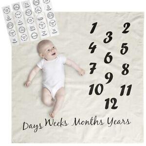 Baby Milestone Blanket With Milestone Stickers USA seller!