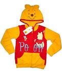 New Kids Toddler DISNEY POOH hooded cotton sweatshirt jacket Size S Age 3 yrs