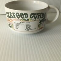 Vintage Youngberg Seafood Gumbo Bowl Handle New Orleans Louisiana 1978