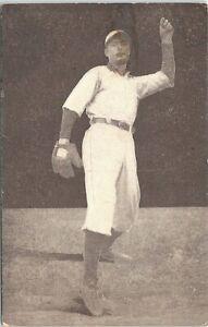 Photo Post Card Baseball Pitcher Edward Siever Detroit 1907
